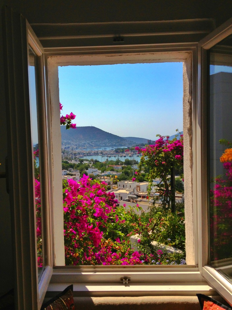 A window view of Bodrum