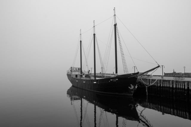 A foggy Halifax, Canada