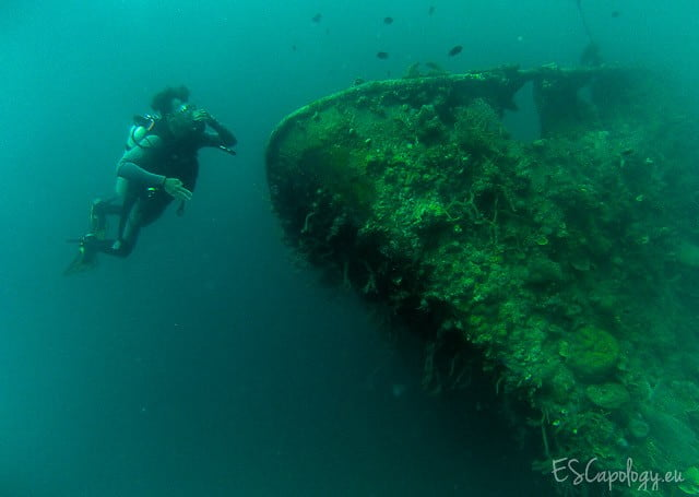 Wreck diving in Coron, The Philippines