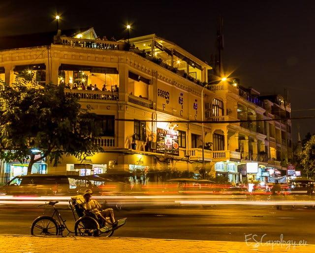 Stranded. Night scene in Phnom Penh