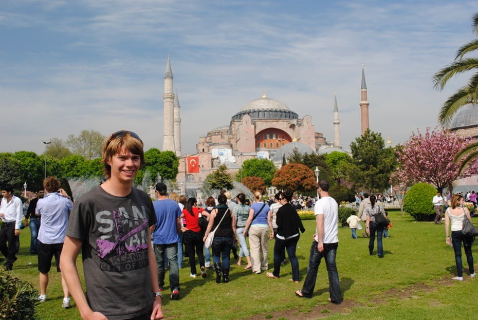 In front of the Hagia Sofia, Istanbul