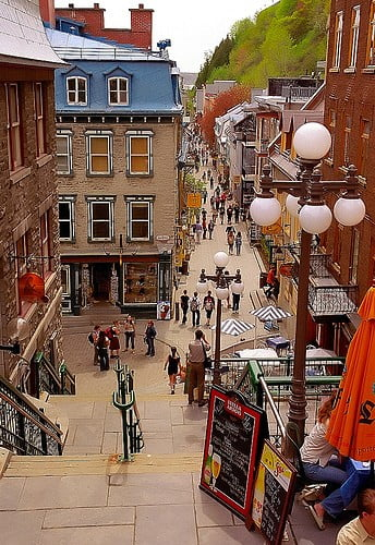 quebec city lower town photo